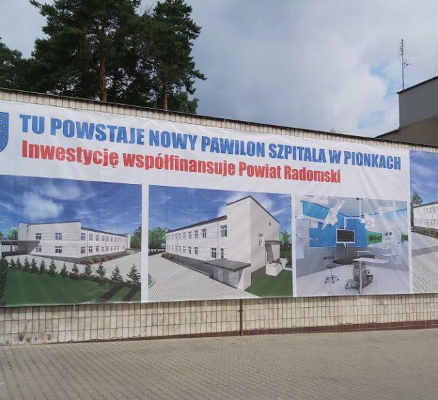 Pawilon zabiegowy SPZZOZ w Pionkach – pierwszy etap inwestycji