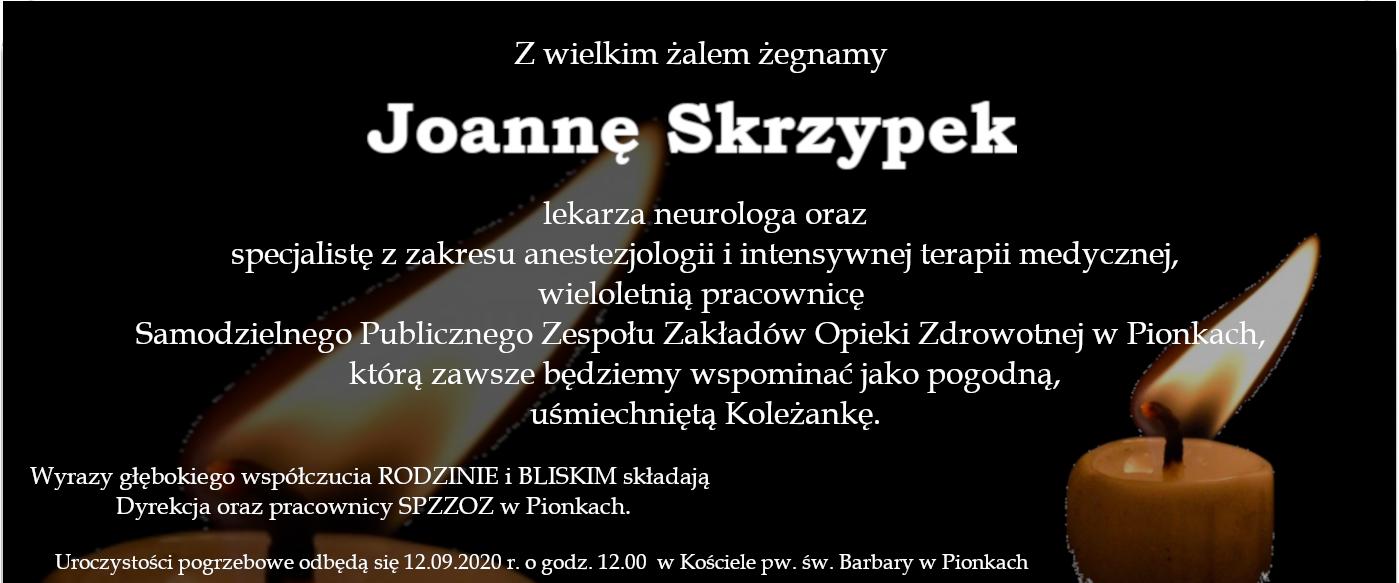 Ostatnie pożegnanie Joanny Skrzypek